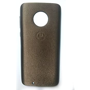 Tech Attires Brown Silken Touch Fabric Washable Ultra Protection Rubberised Soft Back Phone Cover For Motorola Moto G6