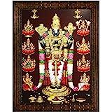 Indianara Tirupati Balaji Ashtalaxmi Painting -Synthetic Wood, 27x30.5x1cm, Multicolour