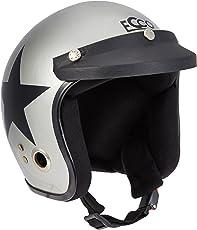 Autofy Habsolite Ecco Star Front Open Helmet (Grey and Black, M)