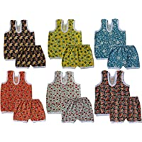 Lariyo Kids Cotton Tshirt and Trouser Combo Set (Pack of 6) - Allover Printed