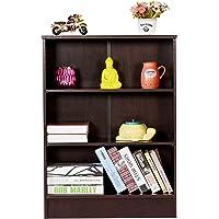 DeckUp Dusun Engineered Wood Book Shelf and Display Unit(Dark Wenge, Matte Finish)