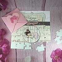 Vuoi essere la mia madrina? Puzzle biglietto per madrina o padrino di battesimo o cresima, personalizzato, disegno a…