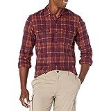 Goodthreads Men's Slim-fit Long-sleeve Plaid Twill Shirt Long Sleeve Button Down Shirt