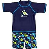 Landora®: bambino/bambini di costumi da bagno Set da pezzi con protezione UV 50+ e certificazione Oeko-Tex 100in blu o Turc