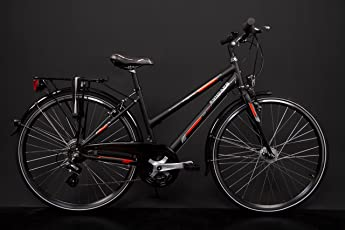 "28"" Zoll Alu MIFA Damen Trekkingbike Fahrrad Shimano 21 Gang Nabendynamo Schwarz RH 50cm"