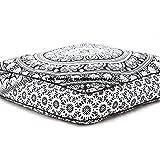 Olifanten Mandala-vloerkussen. Indiaas vierkant zitkussen, groot meditatiekussen, oversized outdoor bedkussen