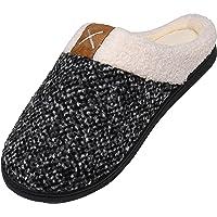 Mishansha Pantofole da casa per Uomo Donna Bicolore in Memory Foam