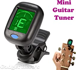 Gadget Hero's Mini Digital LCD Display Automatic Clip-On Chromatic Guitar Bass Violin Ukulele Tuner.