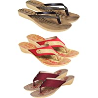 OZZY I slipperscombo Pack of Comfortable Fancy Slippers for Women Women's Flip-Flop Slipper for Women Flipflop for Women…