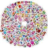 HOWAF 1000+ 3D Autocollants pour Enfant Filles, 50 Feuille 3D Gonflé Stickers pour Enfant Fille DIY Scrapbooking Artisanat, A