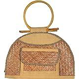 RJH Women's Jute Handbag (Biscuit, RJH 15)