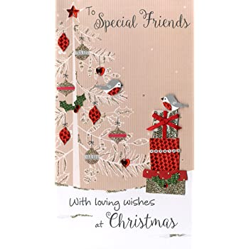 to special friends embellished christmas card hand finished champagne range cards