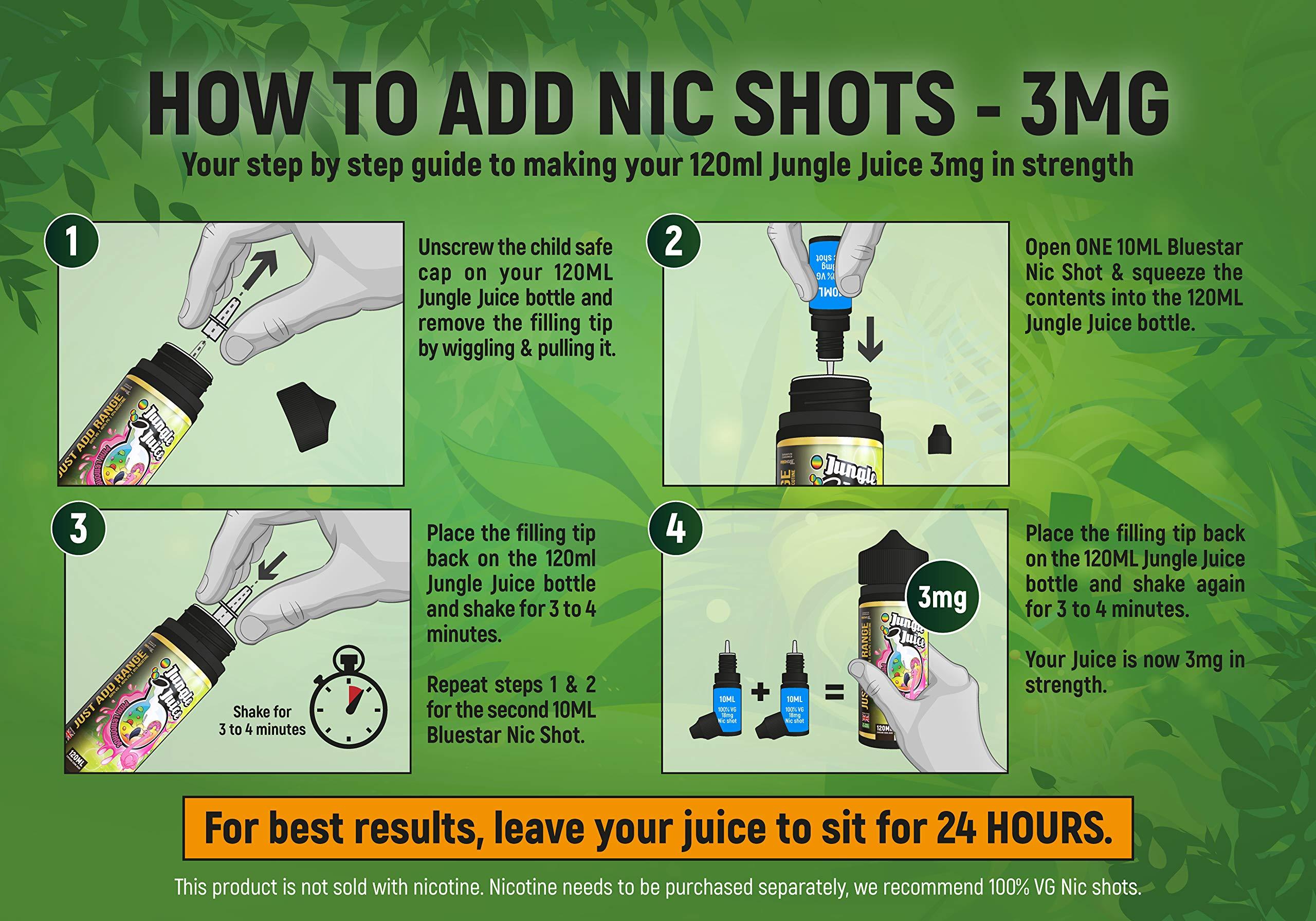 Nicotine Free 0% | 100ml Jungle Juice Premium Vape Liquid Bumper Pack | E Liquid & 30ml Needle tip Bottle | Double Filtered Base for Velvet Celestial Vape Juice | Various Flavours Available 4