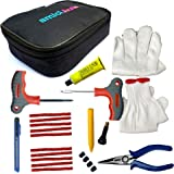 amiciAuto Tubeless Tyre Puncture Repair Complete Kit for Car and Bike (Complete Kit with Easy Storage Nylon Bag)