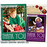 Thank You Cards Christmas Xmas Personalised Bespoke Printed Photo Cards 5 10 20 30 40 50 60 70 80 90 100 Flat Postcards…