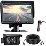 TOGUARD Reversing Camera Kit, 7'' Reverse Camera Monitor with 18 IR LEDS Night Vision, IP67 Waterproof Backup Rear View…
