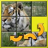 Kinder Tier Slide Puzzle 15 - mystischen Plätzen Form Neuanordnung der Mosaik-Spiel geeignet für die Entwicklung von brainy älterer Kindern im Alter von