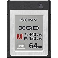 Sony - Scheda di Memoria Flash XQD da 64GB - Serie M (velocità Lettura: 440 MB/s, velocità Scrittura: 150 MB/s) - QDM64