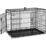 AmazonBasics Hundekäfig mit 1 Tür, Metall, zusammenklappbar