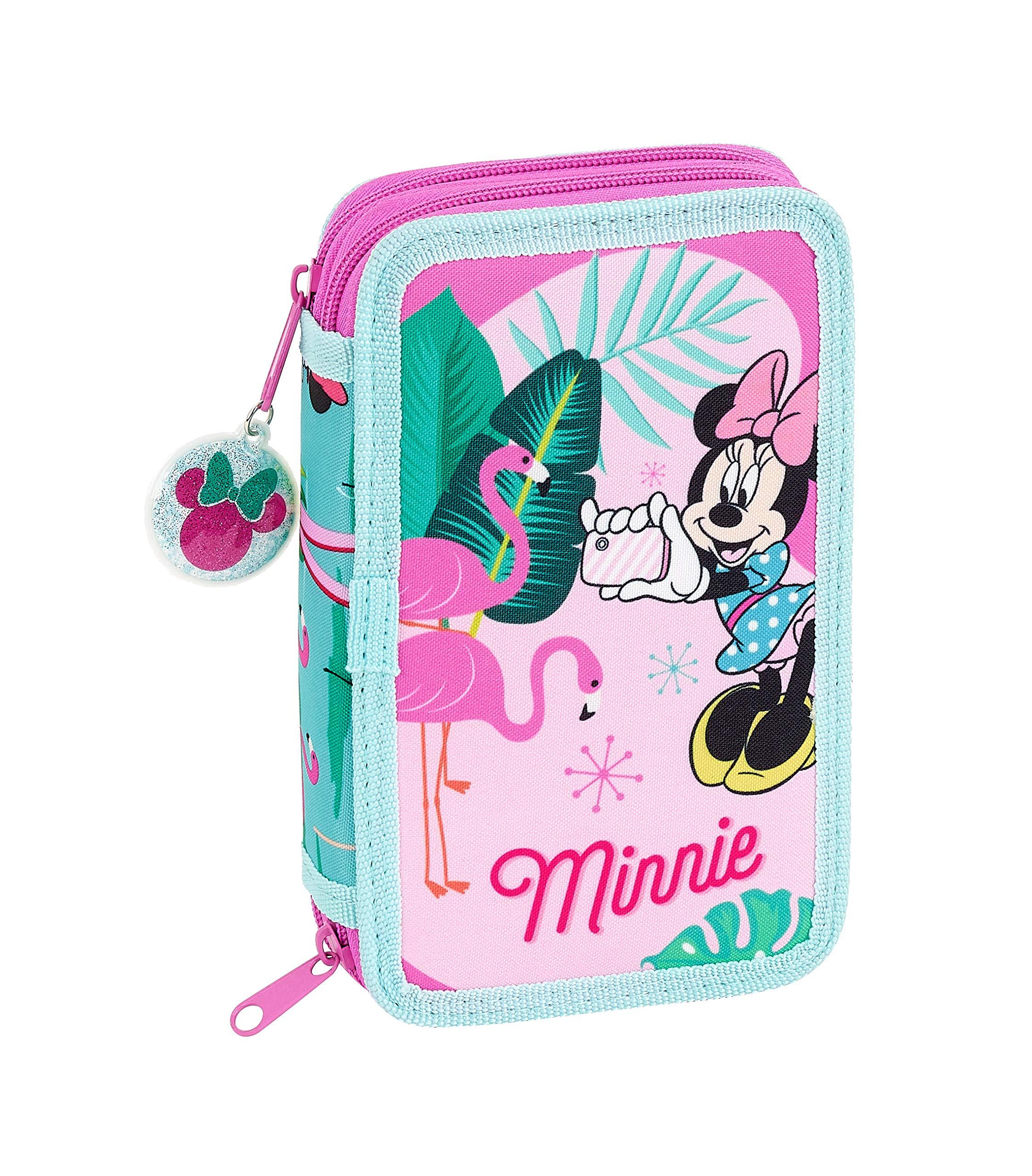 Minnie Mouse «Palms» Oficial Estuche Escolar Incluye 28 Útiles, 125x40x195mm