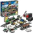LEGO 60198 City Trains Vrachttrein met Motor, Bouwset met Poppetjes, 3 Wagonnen, Rails voor Kinderen van 6 Jaar en Ouder