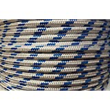 15m x 10mm White Strong Braided Polypropylene Plaited Poly Rope Cord Yacht Boat Sailing