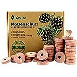 Antitarme naturale in legno di cedro, 40 anelli per tarme, 100% prodotto naturale, eccellente repellente per guardaroba, Bio,