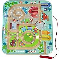 Haba 301056 - Magnetspiel Stadtlabyrinth, pädagogisches Holzspielzeug für Kinder ab 2 Jahren, schult die Logik und…