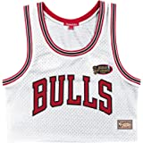 Mitchell and Ness NBA Chicago Bulls - Camiseta de tirantes para mujer, color blanco