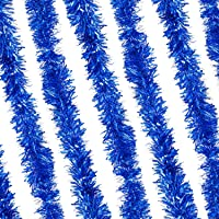 Guirlande de Noël métallisée épaisse et touffue, bleu marine, 8 meters