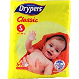 Drypers Classic Open Small Sized Diaper, Combo Pack of 2, 54 Counts Each (108 Counts)(Taped Diaper)