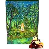 Hallingers 24 Pralinen-Adventskalender, mit/ohne Alkohol (300g) - Sternthaler (Advents-Karton) - zu Weihnachten Adventskalender