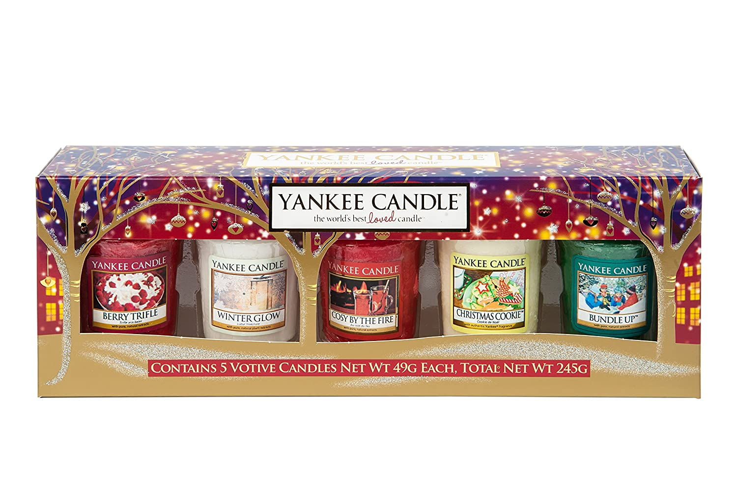 Yankee Christmas Votive Gift Set (2015): Amazon.co.uk: Kitchen & Home