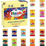 Flash Acrylic Paint Set |16 Colors | 50 ml, 1.7 fl oz Each | High Pigment Strength | Non Fading | Indoor/Outdoor | Non Toxic