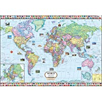 World Map ( 140 x 100 cm ) Laminated ( Big Map )