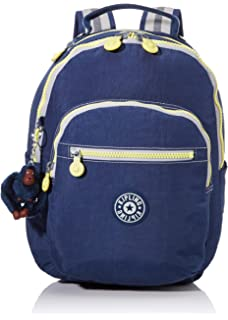 35 cm 14 liters Kipling Seoul GO S Cartable True Blue Tonal Bleu