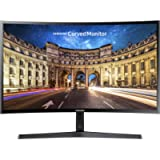 Samsung Monitor C24F396 Curvo da 24', Pannello VA, Full HD 1,920 x 1,080 Pixel, 4 ms, Freesync, 1 HDMI Port, 1 D-Sub…