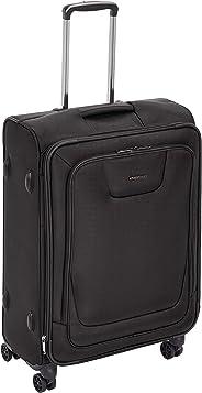 AmazonBasics - Premium-Weichschalen-Trolley mit TSA-Schloss, erweiterbar, 64 cm, Schwarz