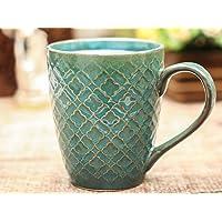 The 7 Dekor Handmade Ceramic Sky Blue Color Milk & Coffee Mugs Set of 1-325 ML
