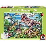 Schmidt Spiele 56193 Bei den Dinosauriern Puzzles, 60 Teile