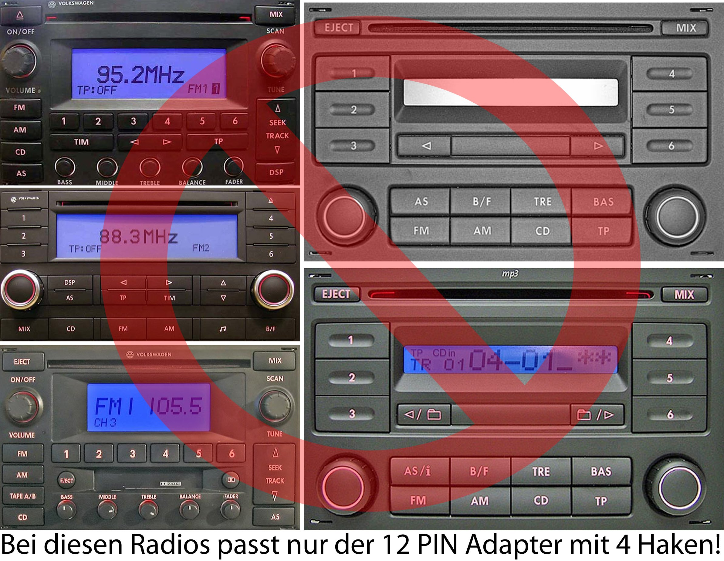 Yatour-YT-M06-VW12-Adapter-fr-USB-SD-AUX-fr-VW-Audi-Seat-und-Skoda-12-Pin-Autoradio-CD-Wechsler-MP3-Player-audio