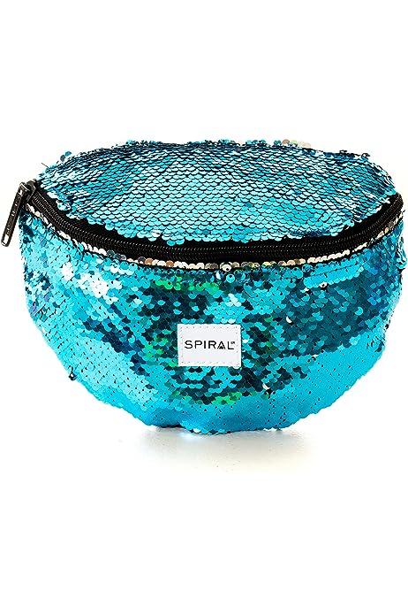 24 cm Emerald 3 L Spiral Mermaid Sequins Bum Bag Sport Waist Pack