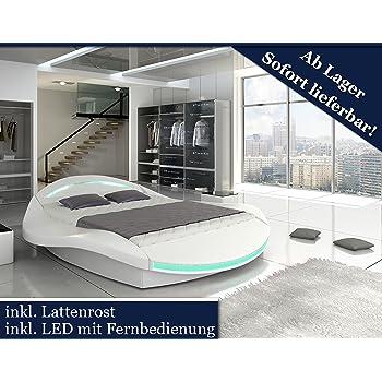Designer bett led  XXXL Designer Bett Designerbett LED Beleuchtung (Weiß, 200x200 ...