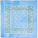 shenky - Bandana - Pañuelo para motorista - 100% algodón - Estampado de cachemira