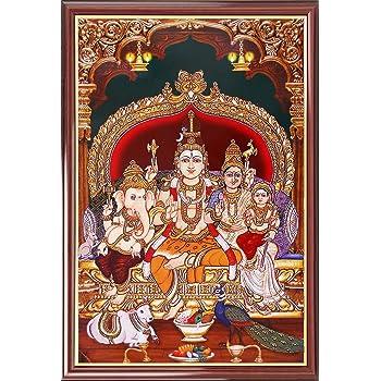 Youth Infomedia Lord Shiva Family Acrylic Photo Frame (25.4 cms x 20.32 cms)