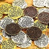 35 Piezas Monedas Piratas de Metal Doblón Español Réplicas Juguetes Moneda del Tesoro Pirata para Decoración de Favores de Fi