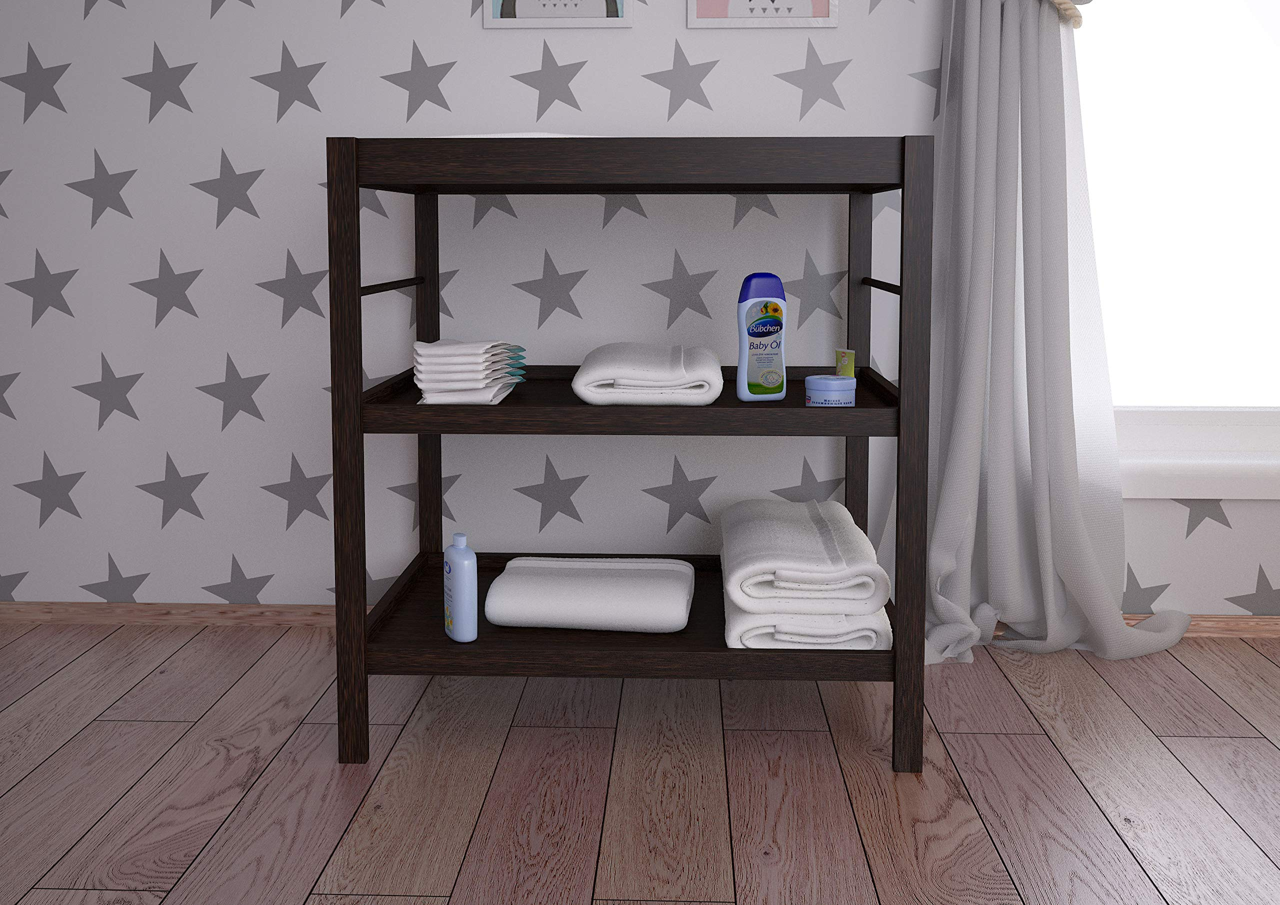Polini Simple Changing Table 1080, Wenge Kidsaw Comfortable height to change 2 storage compartments for changing utensils Suitable for all current changing mattresses (70x50cm) 4