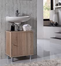 VCM Bad Unterschrank Waschtisch Waschbecken Badschrank Regal Wento 55x45x32 Badezimmer Schrank
