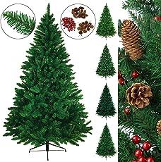 BB SPORT Christbaum künstlicher Weihnachtsbaum Tannenbaum in verschiedenen Größen und Farben inkl. Standfuß künstliche Tanne mit Klappsystem