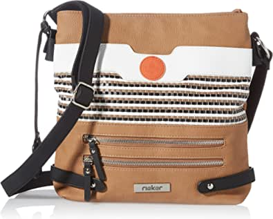 Rieker Damen H1346 Handtasche, Beige Kombi, 280x60x300